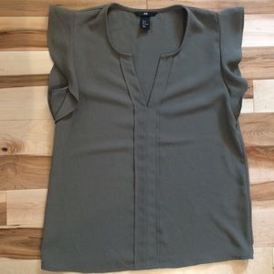 H&M Flutter Sleeve Blouse
